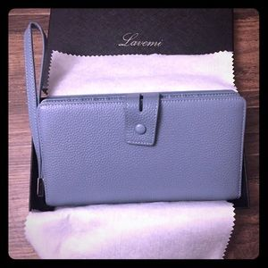 Handbags - New genuine leather RFID large wallet wristlet